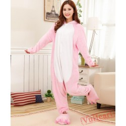 Pink Pig Kigurumi Onesies Pajamas Costumes for Women & Men
