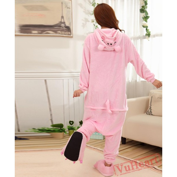 Pink Pig Kigurumi Onesies Pajamas Costumes for Women & Men