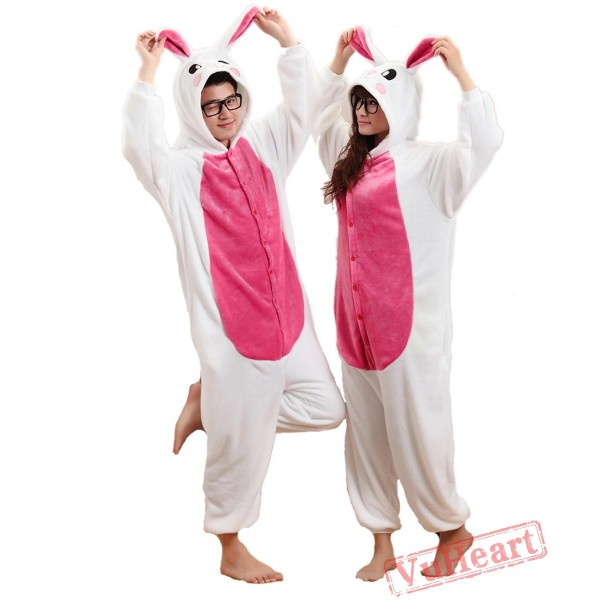 Purple Rabbit Kigurumi Onesies Pajamas Costumes for Women & Men