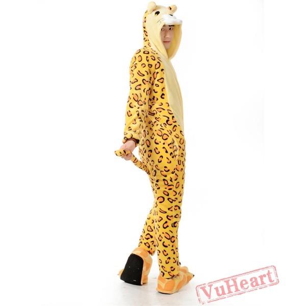 Adult Leopard Tiger Kigurumi Onesies Pajamas Costumes for Women & Men