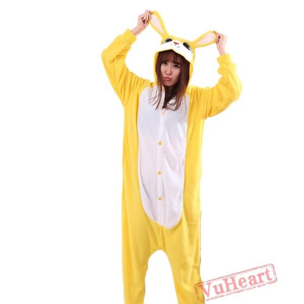 Yellow Rabbit Kigurumi Onesies Pajamas Costumes for Women & Men