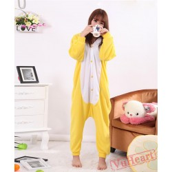 Yellow Rabbit Kigurumi Onesies Pajamas Costumes for Women & Men