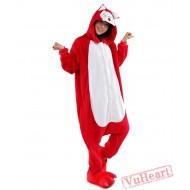 Red Fox Kigurumi Onesies Pajamas Costumes for Women & Men