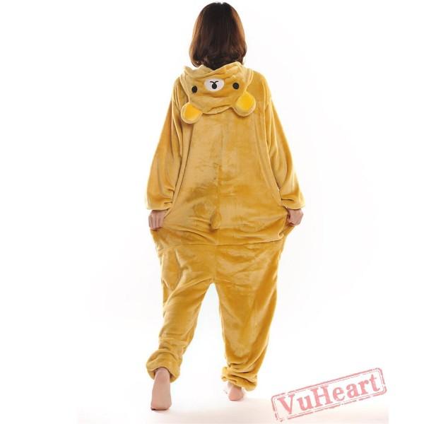 Yellow Bear Couple Onesies / Pajamas / Costumes