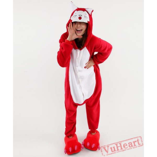 Red Fox Kigurumi Onesies Pajamas Costumes for Women & Men