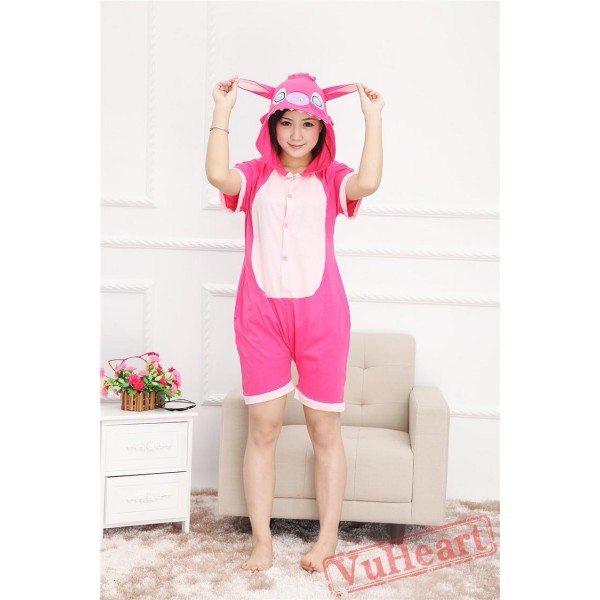 Summer Pink Stitch Kigurumi Onesies Pajamas for Women & Men