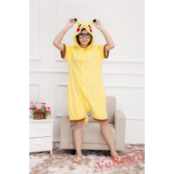 Summer Pikachu Kigurumi Onesies Pajamas for Women & Men