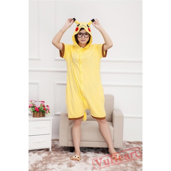 Summer Pikachu Kigurumi Onesies Pajamas for Women & Men