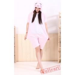 Summer Pink Pig Kigurumi Onesies Pajamas for Women & Men