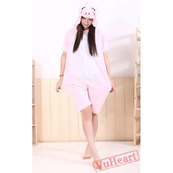 Summer Pink Pig Kigurumi Onesies Pajamas for Women & Men