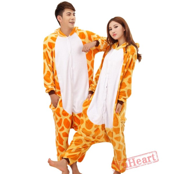 Giraffe Cosplay Kigurumi Onesies Pajamas Costumes for Women & Men