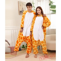 Giraffe Cosplay Couple Onesies / Pajamas / Costumes