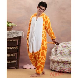 Giraffe Cosplay Kigurumi Onesies Pajamas Costumes for Women & Men