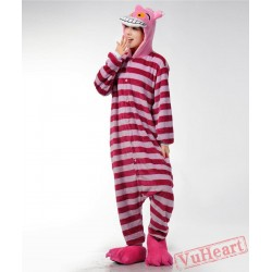 Cheshire Cat Kigurumi Onesies Pajamas Costumes for Women & Men
