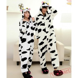 Cute Cow Couple Onesies / Pajamas / Costumes