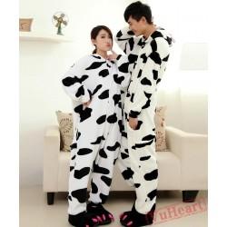 Cute Cow Kigurumi Onesies Pajamas Costumes for Women & Men