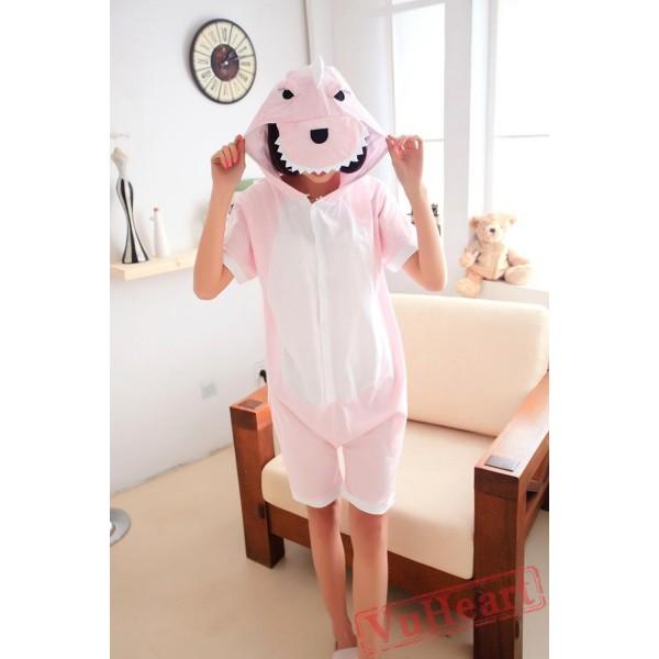 Summer Pink Dinosaur Couple Onesies / Pajamas / Costumes