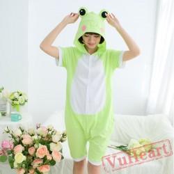 Summer Green Frog Kigurumi Onesies Pajamas for Women & Men
