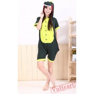 Summer Green Dinosaur Kigurumi Onesies Pajamas for Women & Men