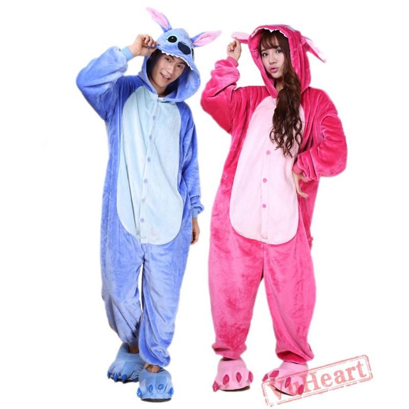 Blue Stitch Kigurumi Onesies Pajamas Costumes for Women   Men 81e828332
