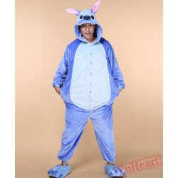 Blue Stitch Couple Onesies / Pajamas / Costumes