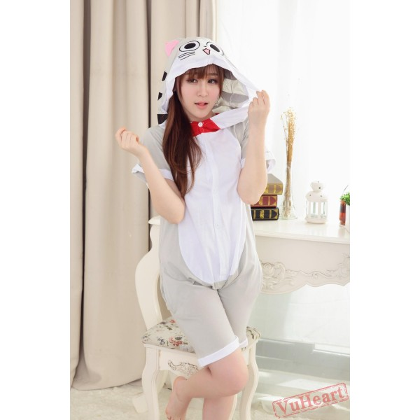 Summer Cheese Cat Kigurumi Onesies Pajamas for Women & Men
