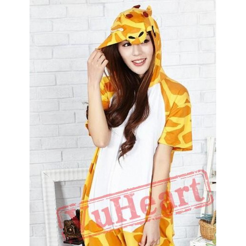 10b8fec00d48 Summer Giraffe Kigurumi Onesies Pajamas for Women   Men