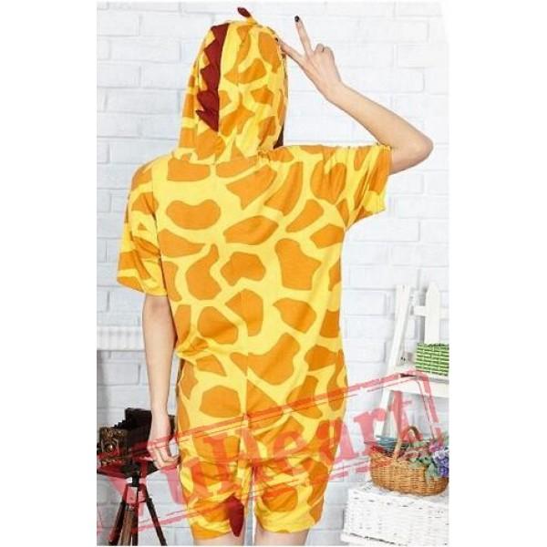 Summer Giraffe Kigurumi Onesies Pajamas for Women & Men