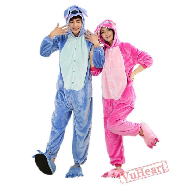 Purple Stitch Couple Onesies / Pajamas / Costumes