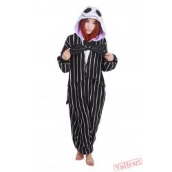 Skull Jack Kigurumi Onesies Pajamas Costumes for Women & Men