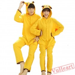 Spring & Autumn Pikachu Kigurumi Onesies Pajamas for Women & Men