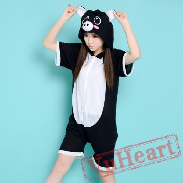 Summer Black Pig Kigurumi Onesies Pajamas for Women & Men