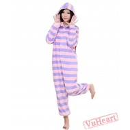 Spring & Autumn Purple Stripes Kigurumi Onesies Pajamas for Women & Men