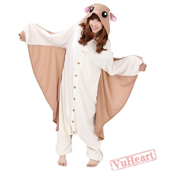 Halloween Flying Squirrel Kigurumi Onesies Pajamas Costumes for Women & Men