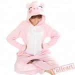 Spring & Autumn Pink Pig Kigurumi Onesies Pajamas for Women & Men