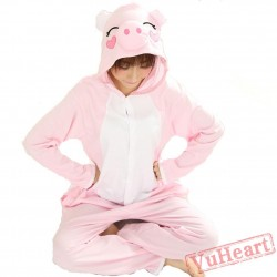 Spring & Autumn Pink Pig Kigurumi Onesies Pajamas for Women & Men