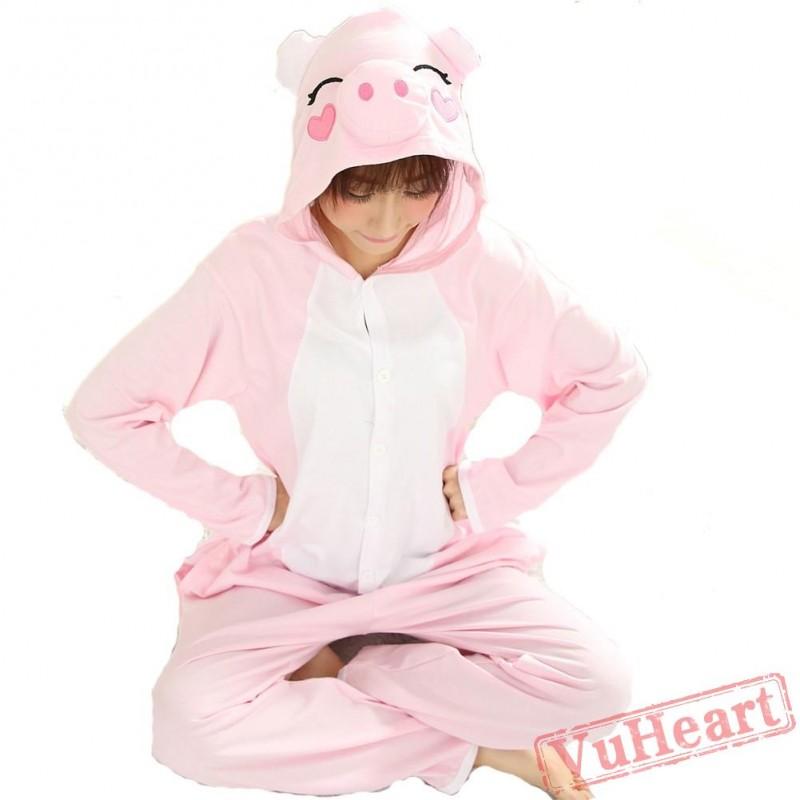 756c8e2bc52e Spring   Autumn Pink Pig Kigurumi Onesies Pajamas for Women   Men