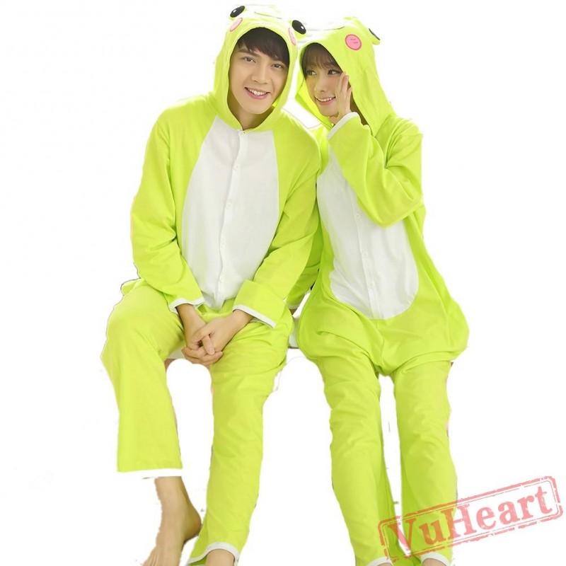51464c862149 Green Frog Couple Onesies   Pajamas   Costumes