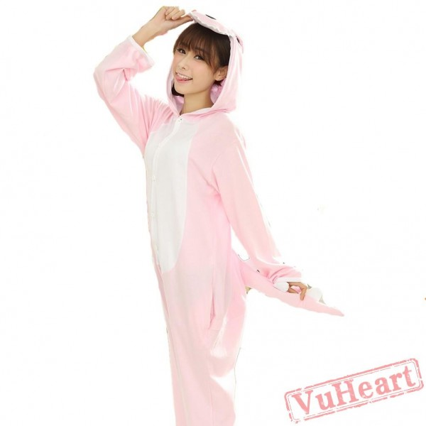 Pink Dinosaur Couple Onesies / Pajamas / Costumes