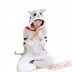 Spring & Autumn Cheese Cat Kigurumi Onesies Pajamas for Women & Men