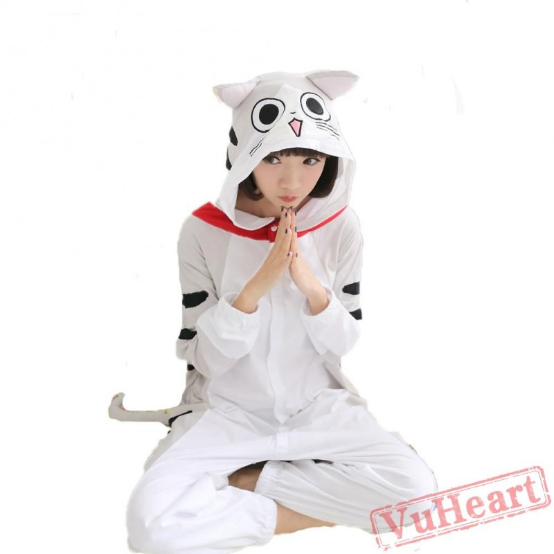 Spring   Autumn Cheese Cat Kigurumi Onesies Pajamas for Women   Men d5721a0b2
