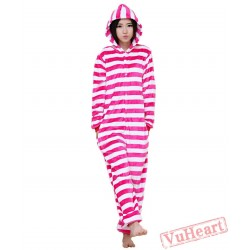 Spring & Autumn Rose Stripes Kigurumi Onesies Pajamas for Women & Men