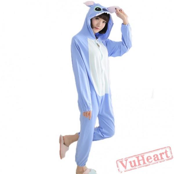 Spring & Autumn Blue Stitch Kigurumi Onesies Pajamas for Women & Men