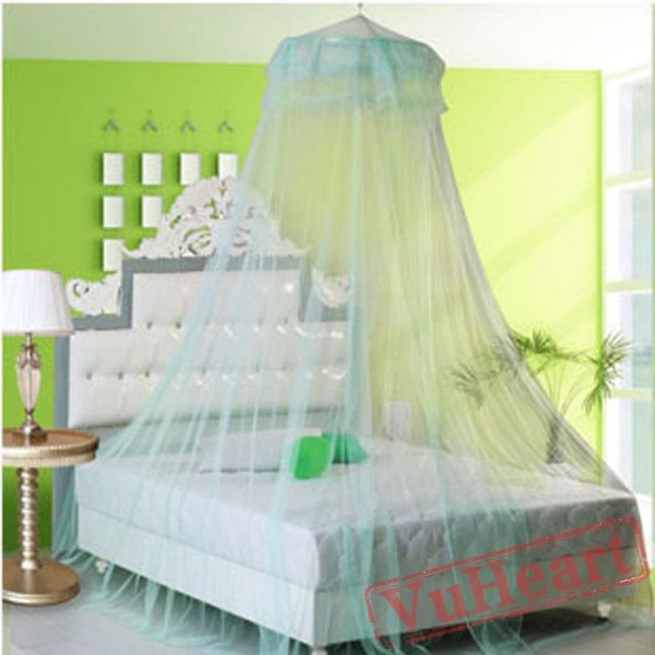 Lace Hanging Classical Green Mosquito Net for Bed