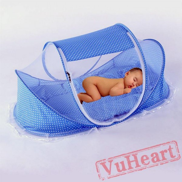 Blue Portable Folding Baby Mosquito Net