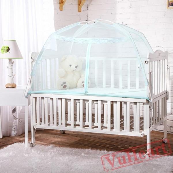 Blue Folding Baby Mosquito Net