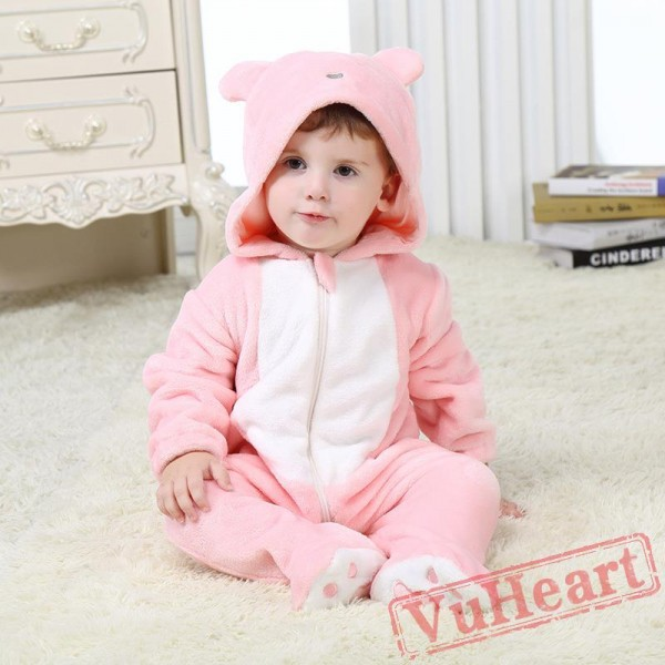 Baby Pink Bear Onesie Costume - Kigurumi Onesies
