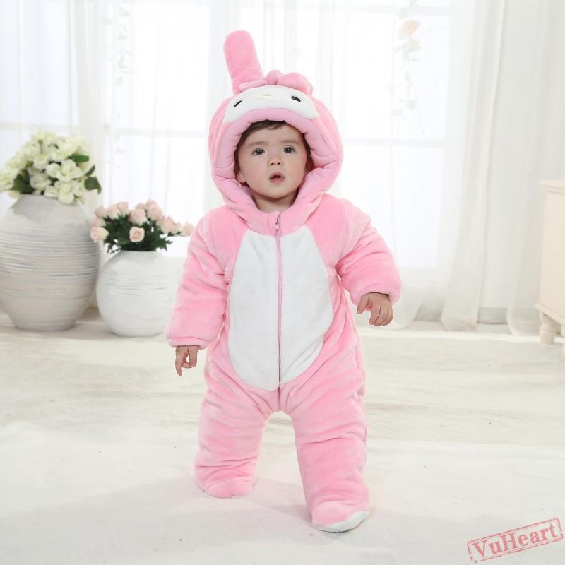 Winter Onesies Baby Pink Rabbit Onesie Costume