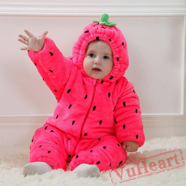 Baby Strawberry Onesie Costume - Kigurumi Onesies