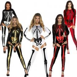 Woman Sexy Skeleton Adult Onesies Club Costumes